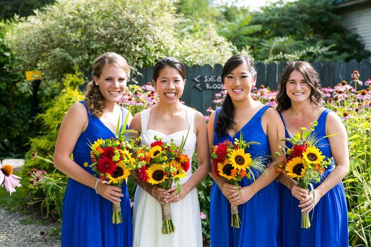 Blue J.Crew A-Line Bridesmaid Dresses