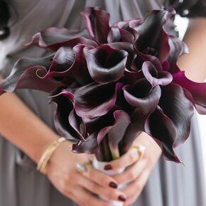 Plum Wedding Flower Arrangements