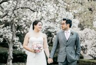 When Justina Chang (a business analyst) and Khai Hoang (a development manger) planned their elegant spring wedding, finding a venue that they truly co