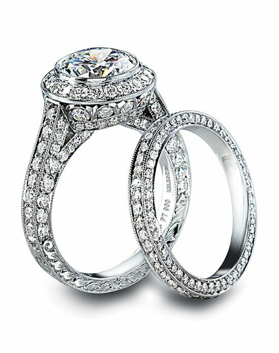 Platinum Engagement and Wedding Ring Must-Haves Jack Kelege Platinum & Diamond Bridal Set Engagement Ring photo