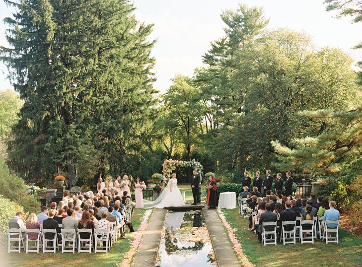 A Romantic Garden Wedding At The Skylands Manor Castle At