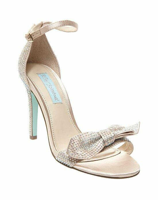 Blue by Betsey Johnson SB-GWEN - CHAMPAGNE SATIN Wedding Shoes photo