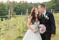 Kira and Eric's rustic, elegant wedding had many DIY elements that brought out the personal style of the couple. The LaBelle Winery served as the back