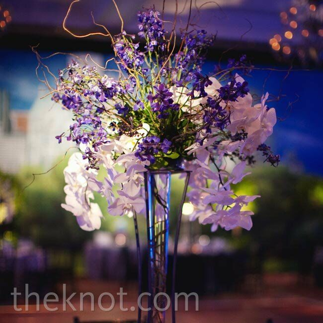 Orchid and branch centerpiece