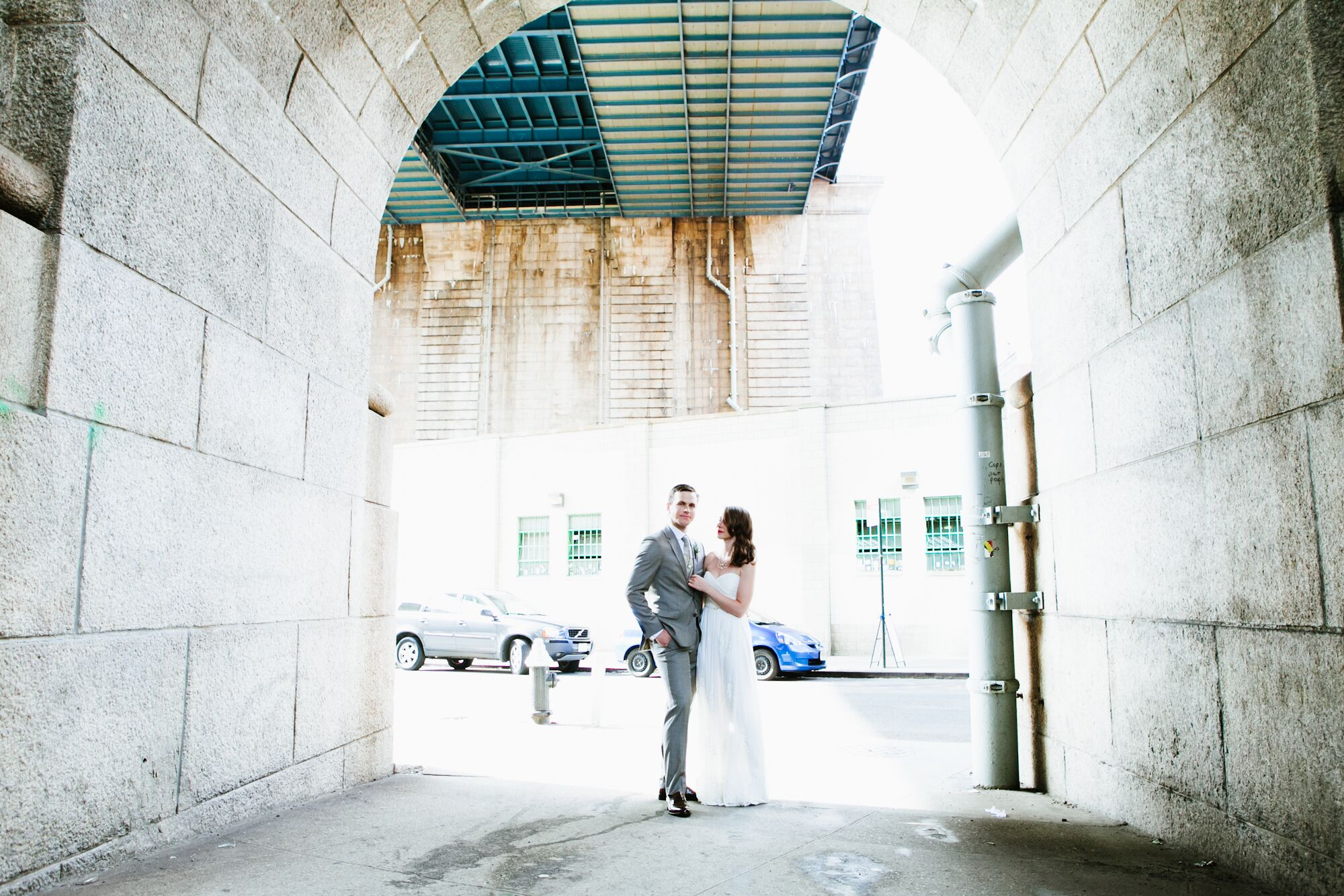 a modern summer wedding at rebar in brooklyn new york