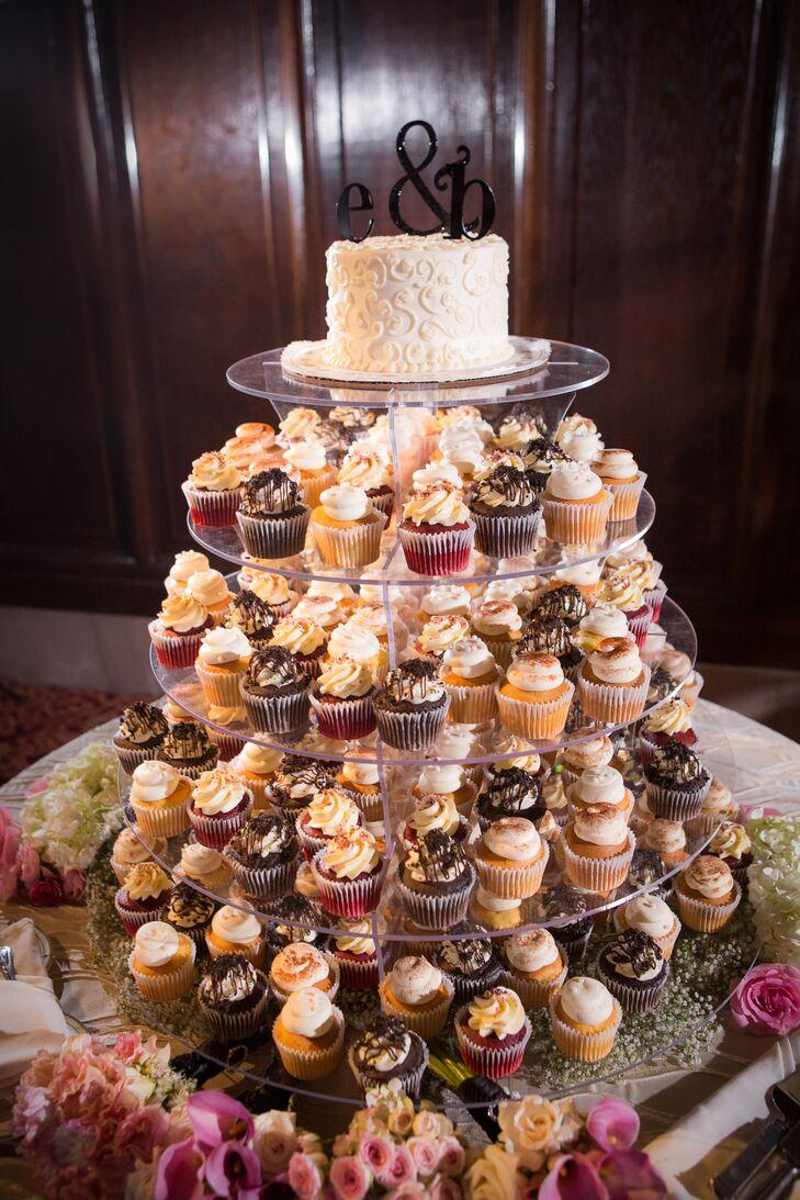wedding cupcakes modern cupcake tower, alternative unique