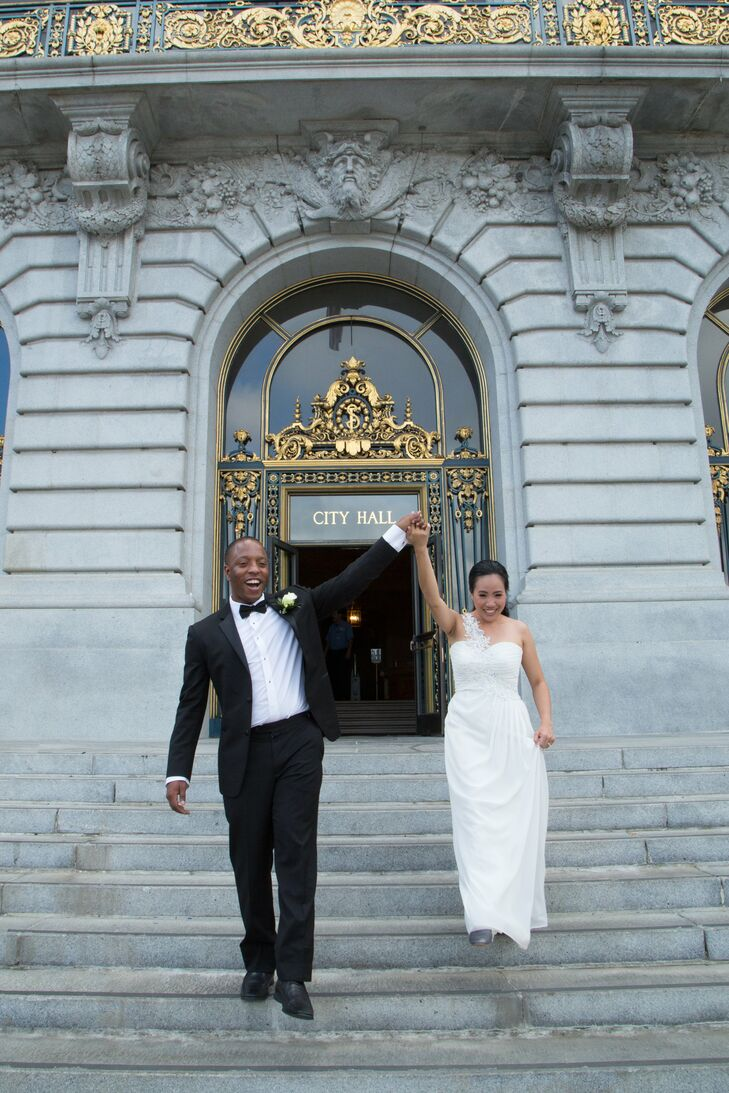 After their ceremony, Cielito and Bethewel happily exited the beautify City Hall building and celebrated afterward with their guests.