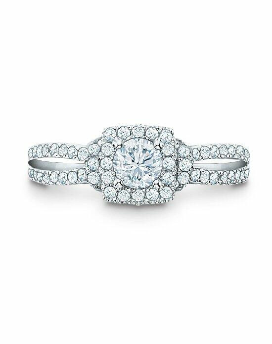 Vera Wang LOVE at Zales Vera Wang LOVE Collection 1 CT. T.W. Diamond Frame Split Shank Engagement Ring in 14K White Gold  18628149 Engagement Ring photo