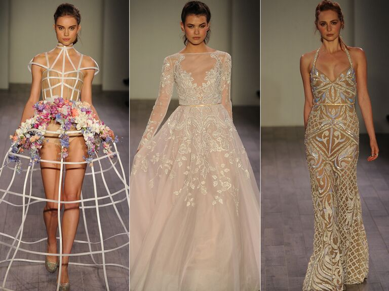 Hayley paige shows lively feminine wedding dresses for fall 2016
