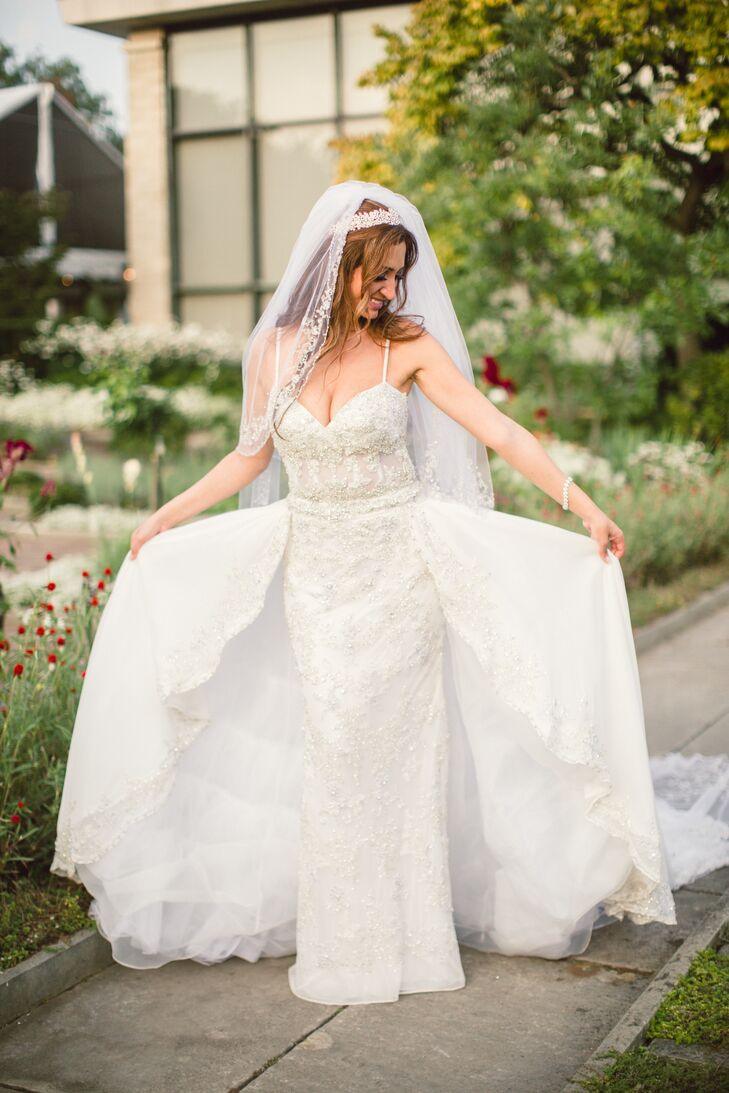 Ysa makino wedding dress with detachable skirt for Ysa makino wedding dress