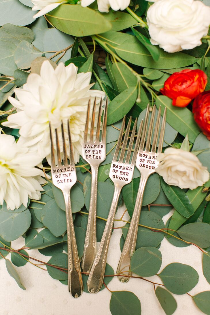 Engraved Forks for Parents of Bride and Groom