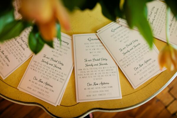 Printed Ceremony Programs