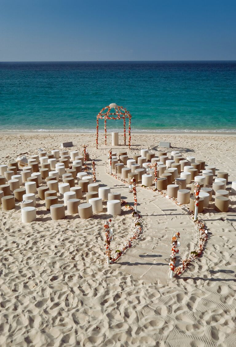 Colin Cowie's Paradise Island, Bahamas beach ceremony