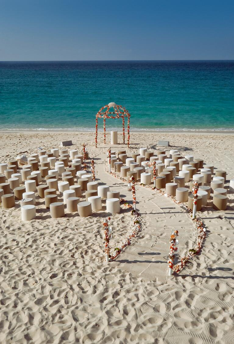 Colin Cowie's Paradise Island, Bahamas beach wedding ceremony
