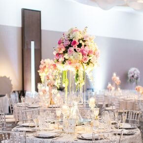 Spring wedding centerpieces glam tall spring floral centerpieces mightylinksfo