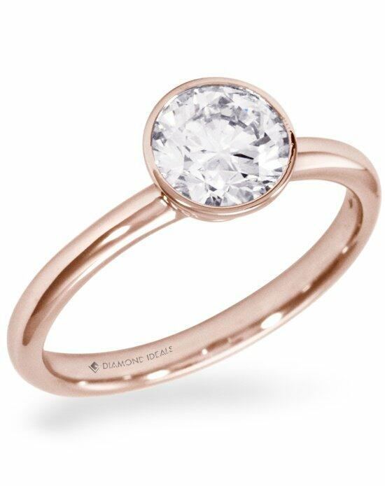 Diamond Ideals Custom Rose Gold Bezel Engagement Ring-CUSTG0107 Engagement Ring photo