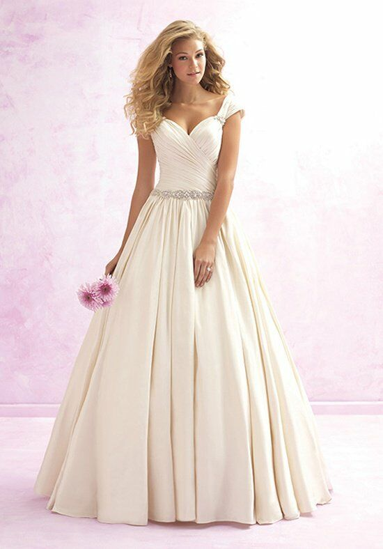 Madison james mj07 wedding dress the knot for Madison james wedding dress prices