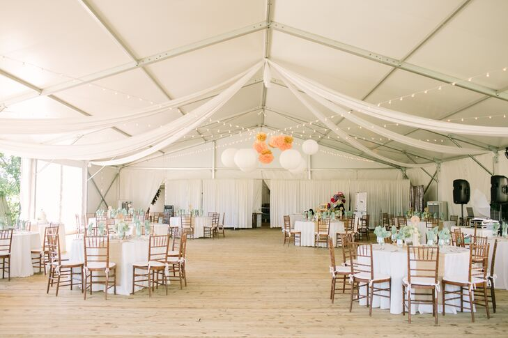Bright Tented Reception