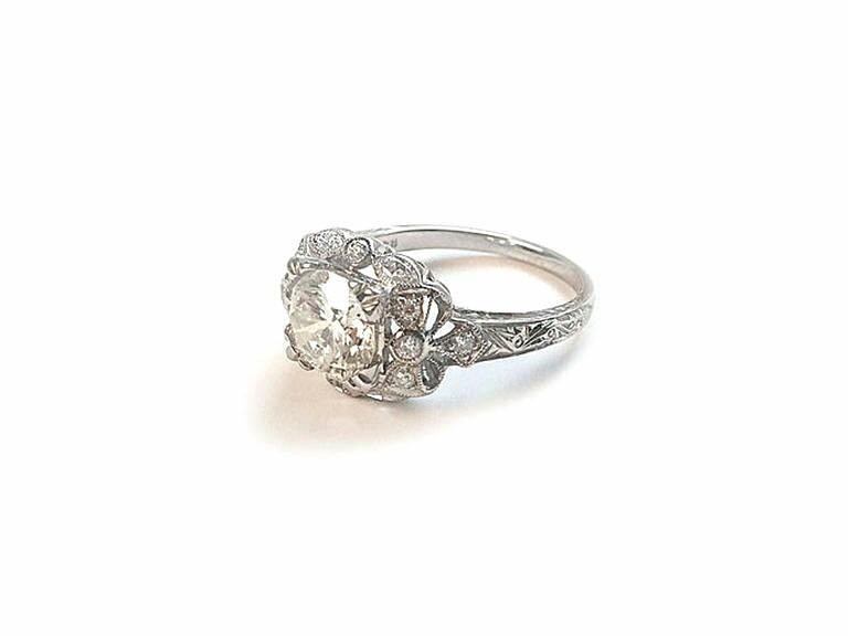 Stone Fox Bride Vintage Inspired Engagement Ring