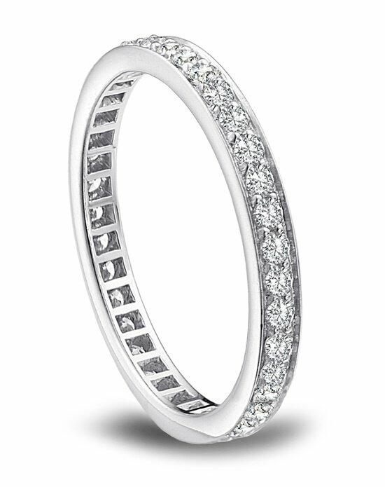 Platinum Engagement and Wedding Ring Must-Haves Platinum Channel Set Diamond Eternity Band Wedding Ring photo
