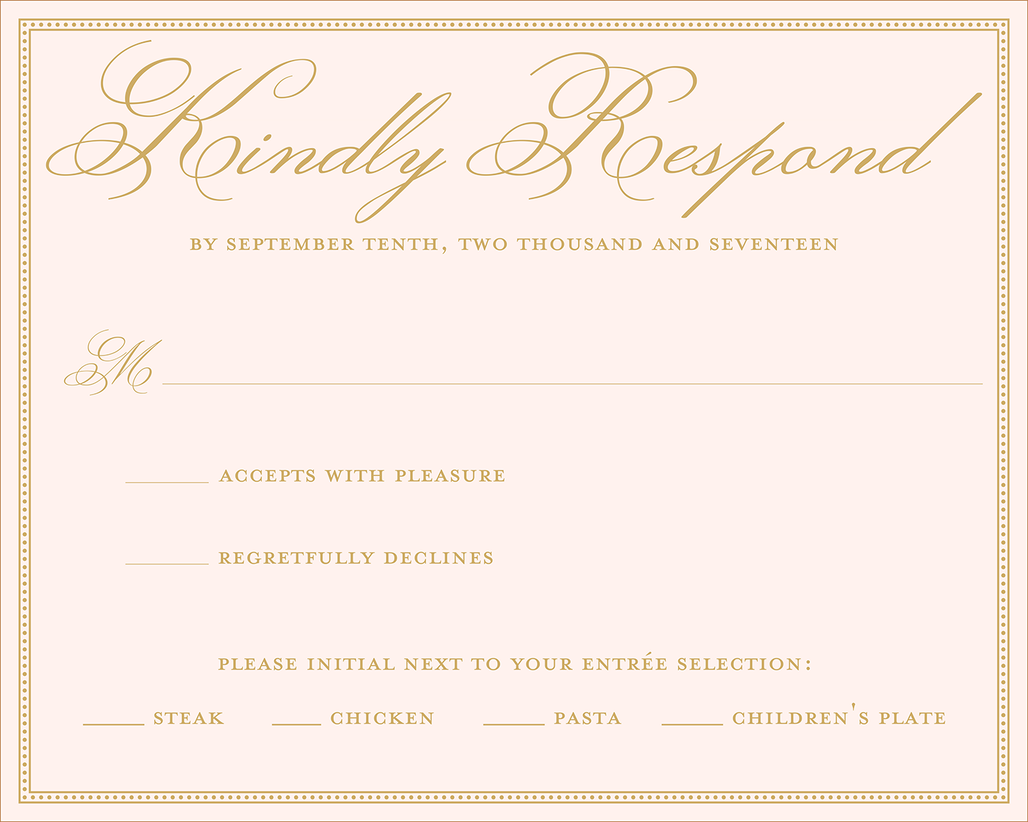 Wedding rsvp wording ideas for Wording for wedding invitations with rsvp