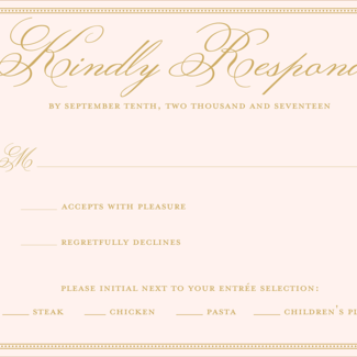 Wedding rsvp wording example
