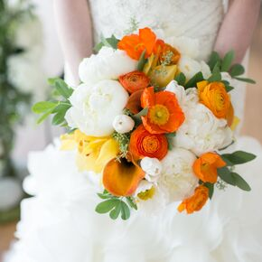 Yellow wedding bouquets orange and white bridal bouquet mightylinksfo