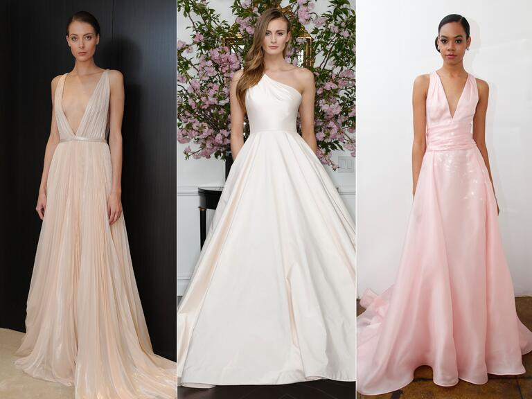 Blush colored wedding dresses