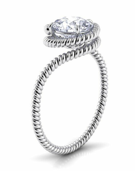 Danhov Abbraccio Twist Engagement Ring photo