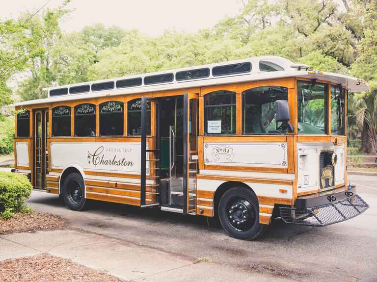 Charleston wedding trolley transportation