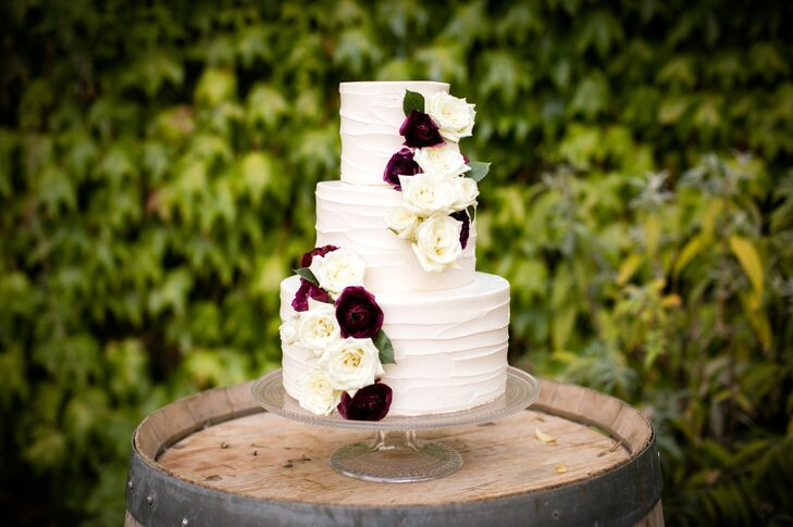 burgundy wedding cakes burgundy and ivory wedding cake 12246