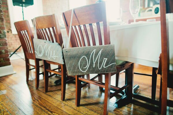 Mr. and Mrs. Reception Chairs