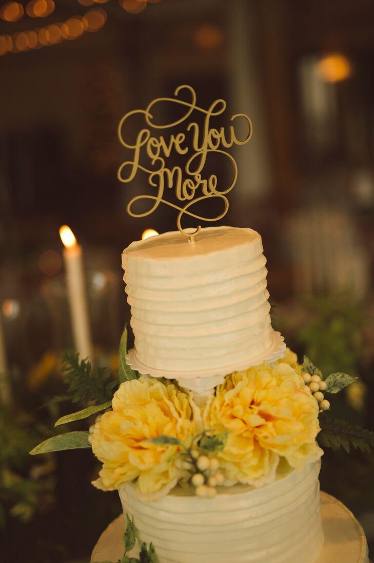 Love You More\' Wedding Cake Topper