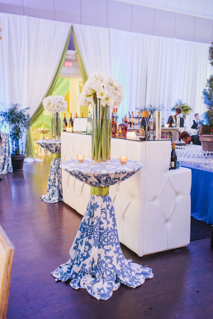 Modern Royal Blue And Kelly Green Cocktail Lounge