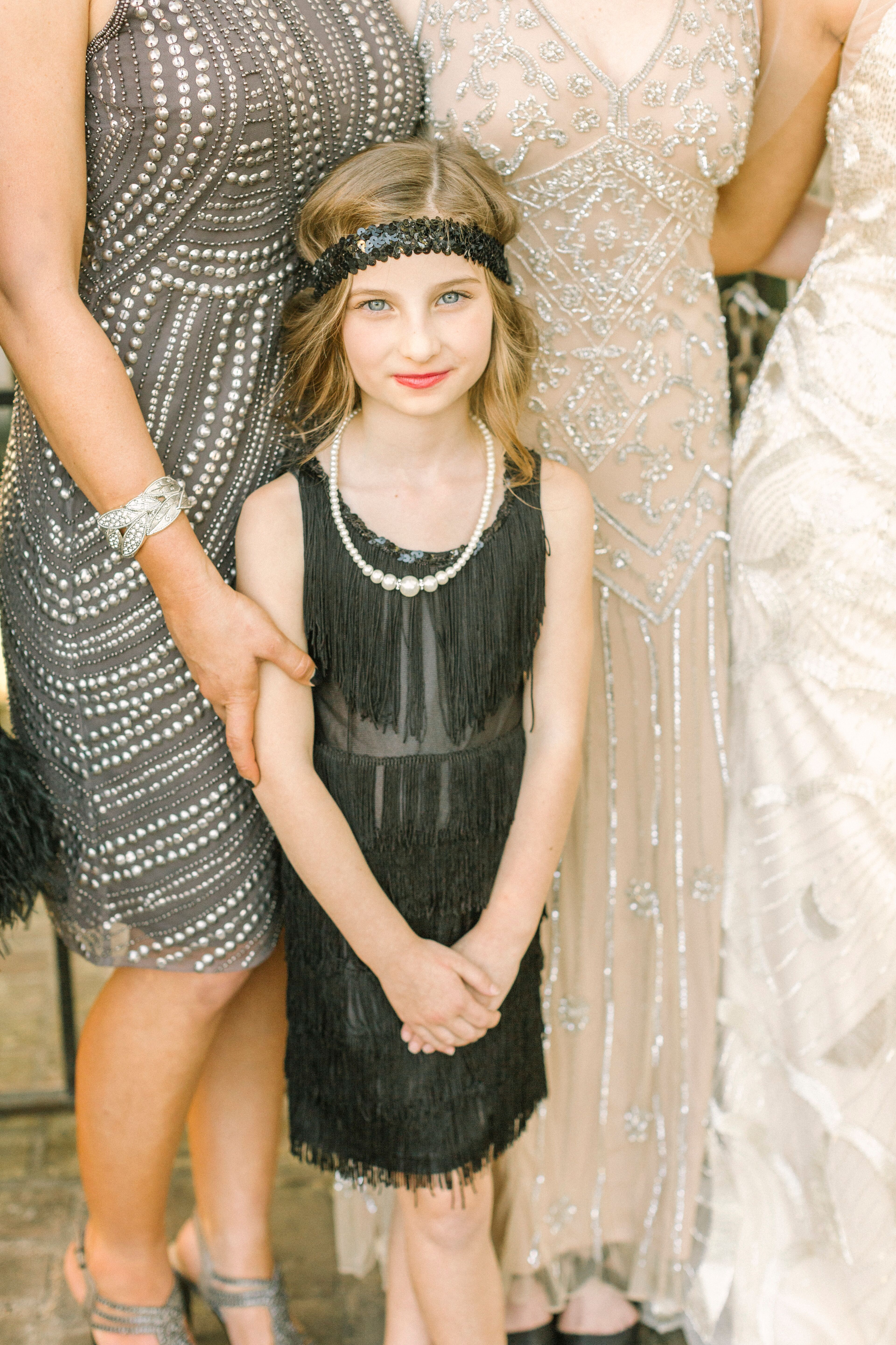 1920s-Inspired Flower Girl Dress