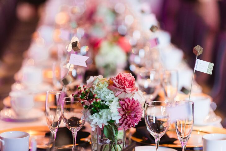 Dahlia and Peony Colorful Centerpieces