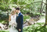 Stephanie and Joe drew from old Hollywood glamour, art deco style and The Great Gatsby for their romantic celebration. A color palette of white, cream