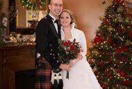 This Christmas-themed wedding is full of holiday cheer. Alicia Jordan (marketing) and Jeremy Feil (a firefighter) incorporated their favorite holiday