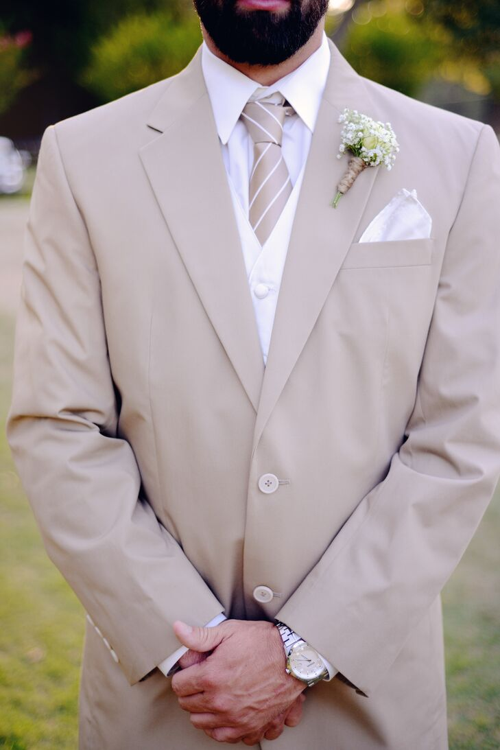 Taupe Suit Tie Taupe Groom Suit And Tie With