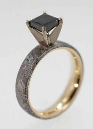 Wedding Rings Made Of Dinosaur Bone Meteorite And Deer Antler