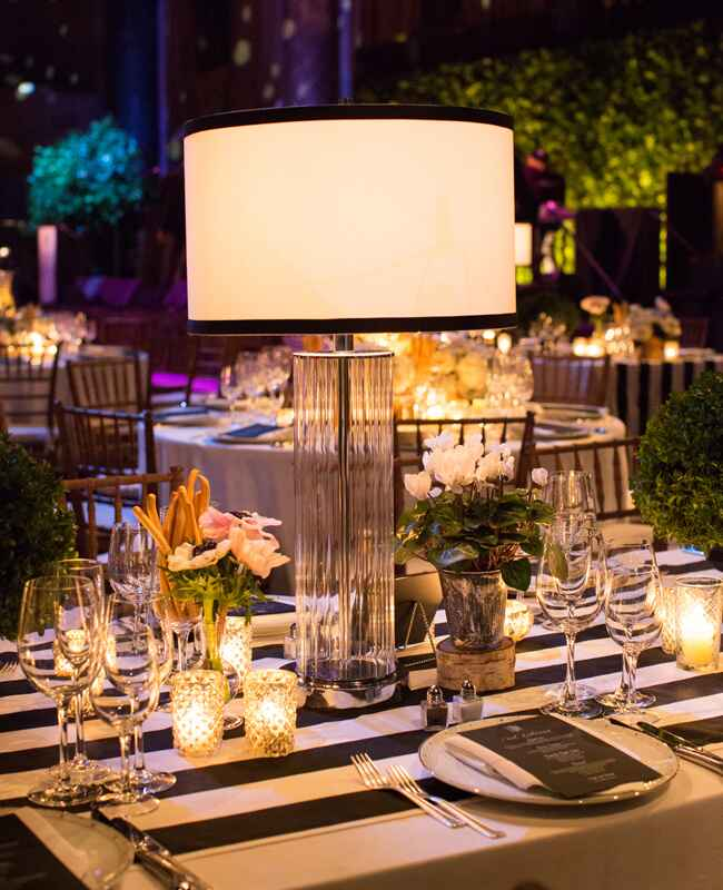 Steal This Bright Idea Lamp Centerpieces