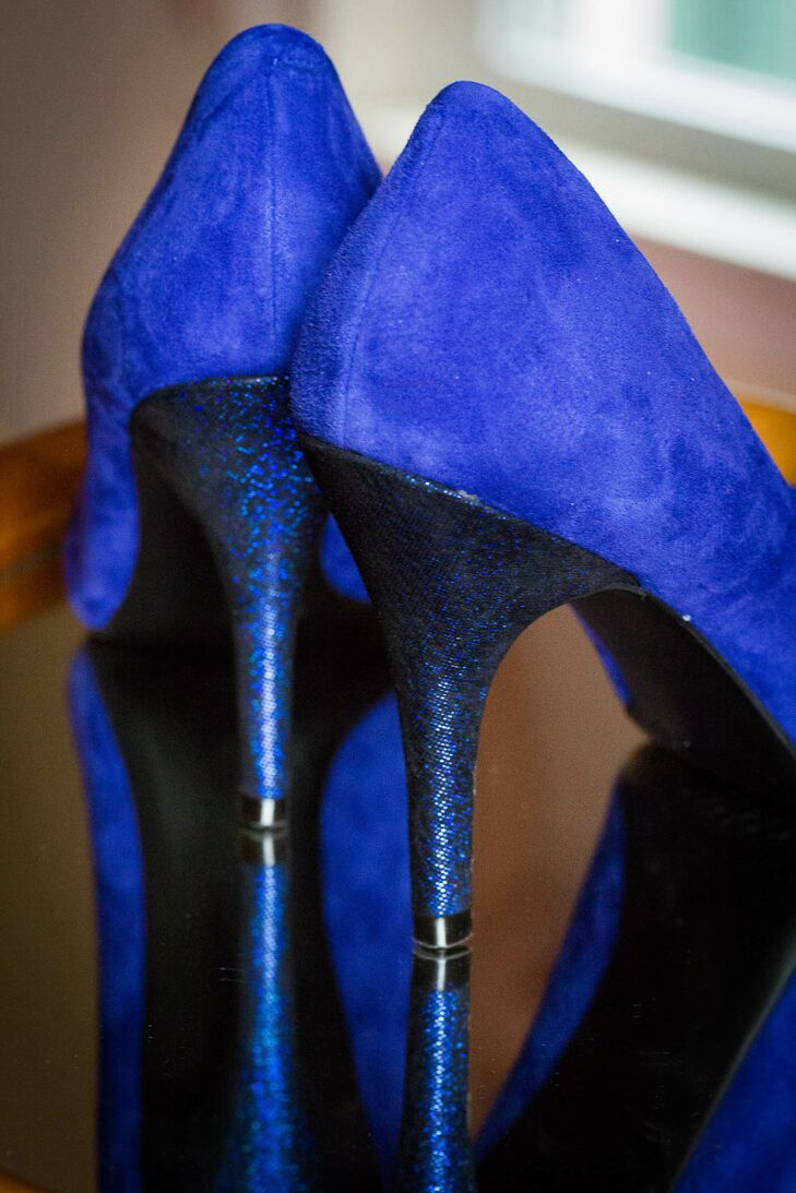 Royal blue wedding shoes with sparkle heels junglespirit Image collections