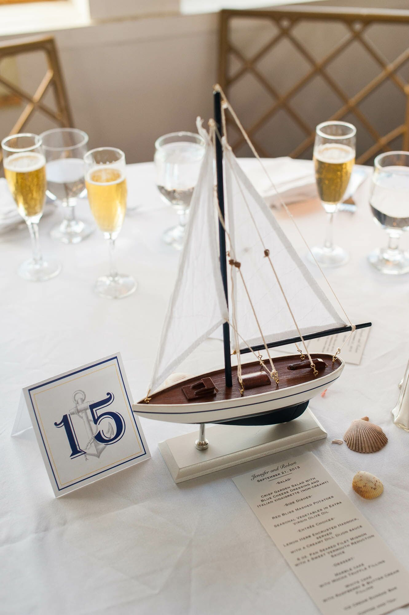 Model Sailboat Centerpieces