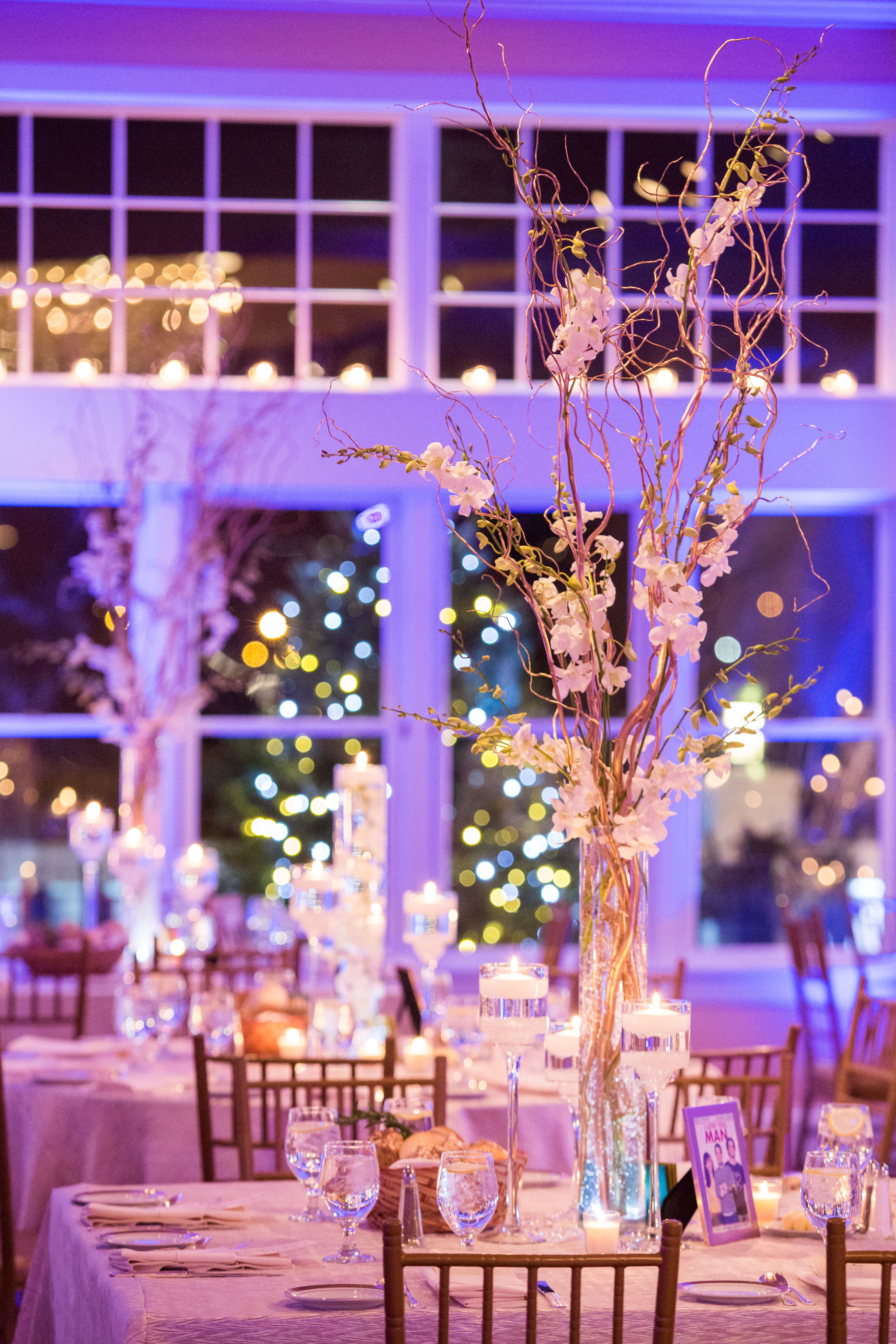 Modern Ballroom Wedding Reception Decor