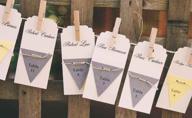 DIY clothespin wedding ideas: TK / TheKnot.com