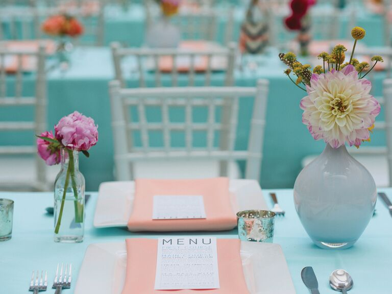 Bright wedding reception palette
