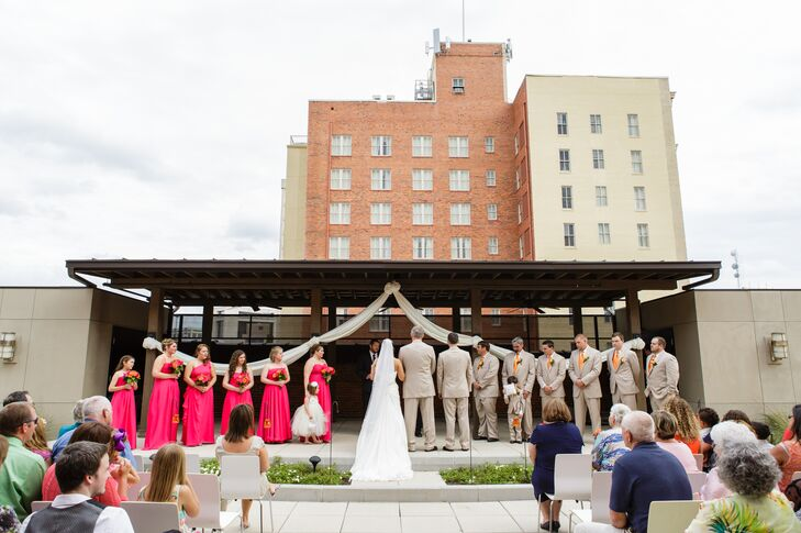 A vibrant spring wedding at alley station in montgomery for Wedding dresses montgomery al