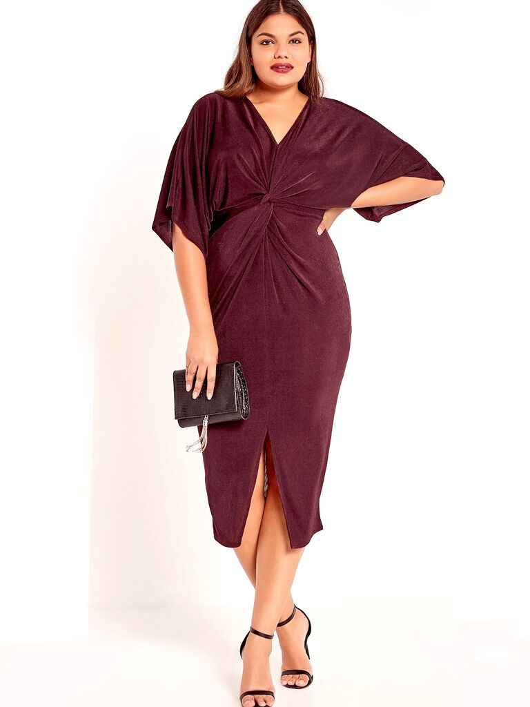 Missguided Plus Size Kimono Midi Dress Style Fall Wedding