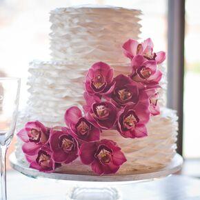 Purple wedding cakes fresh purple orchid wedding cake junglespirit Images