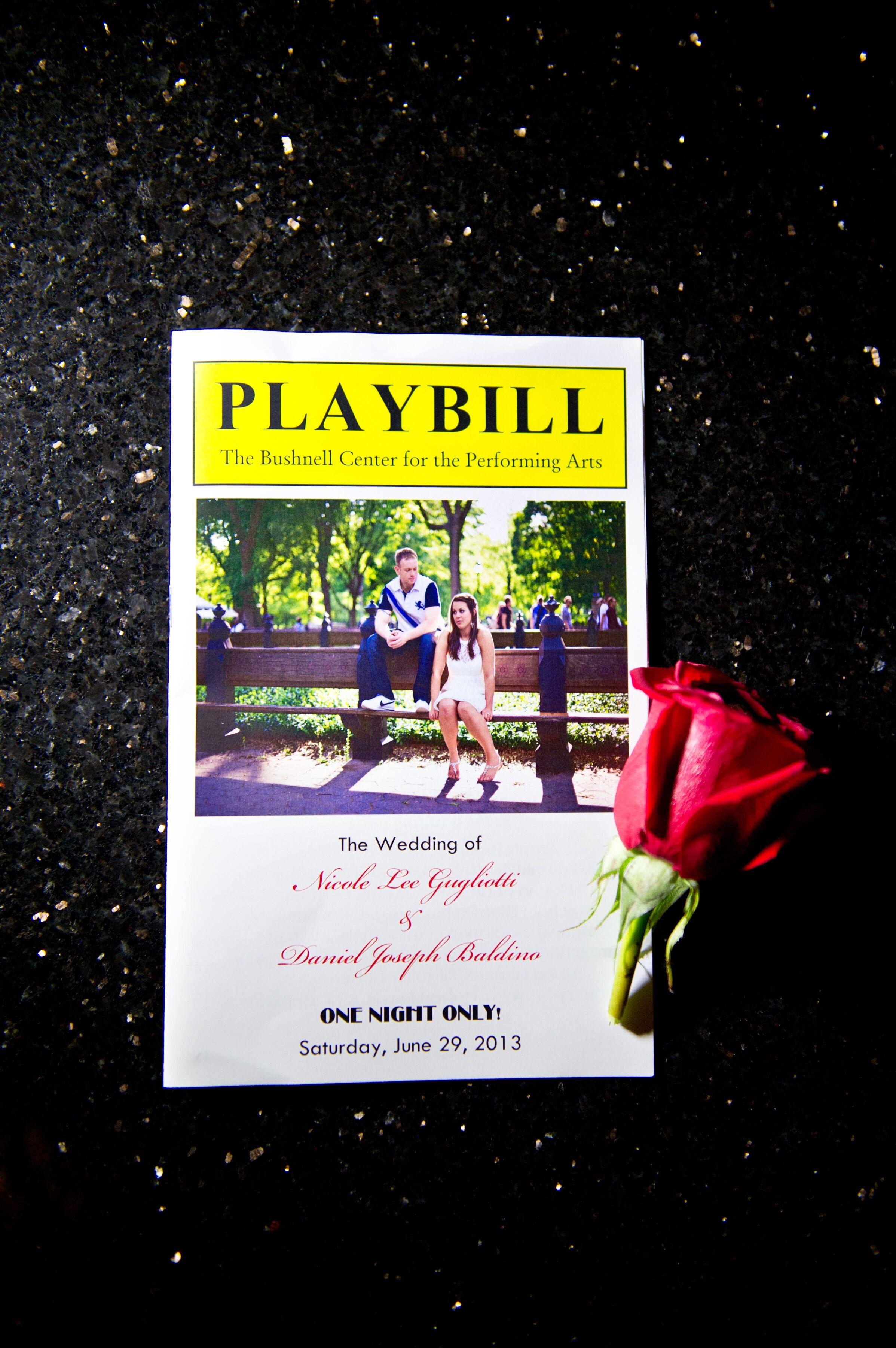 playbill as wedding program